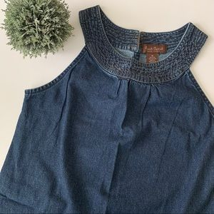 • vintage denim mini dress •